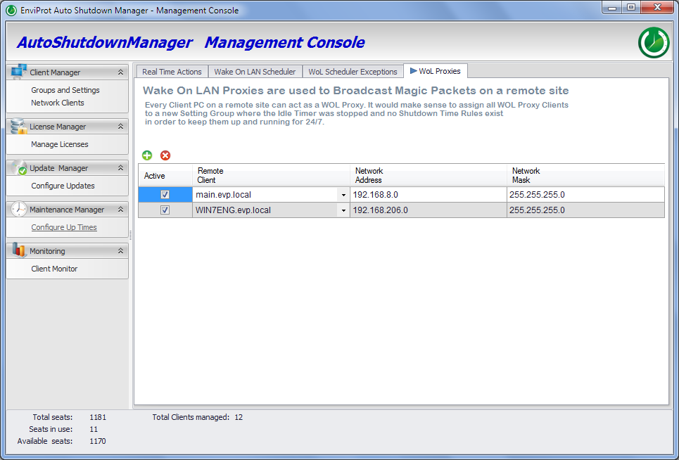 WOL Proxy in Auto Shutdown Manager